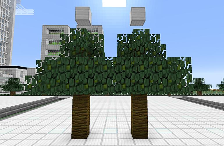ジャングルの木の制限ブロック・9マス目