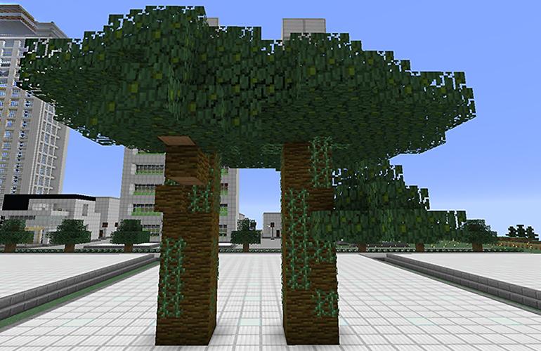 ジャングルの巨木の制限ブロック