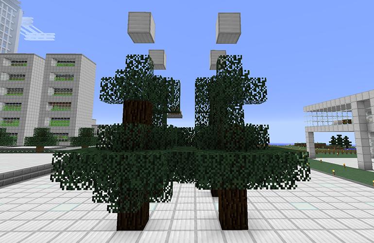 マツの木の制限ブロック